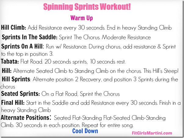 Spinning Sprints Workout