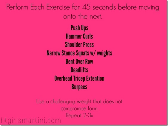 45 seconds 8 exercises