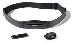 HRM chest strap, USB stick and foot pod